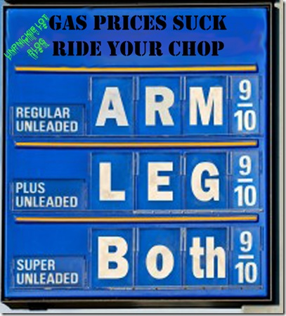 """A gas sign with a humorous slant: I incorporated the old saying """"cost an arm and a leg"""" onto the sign."""
