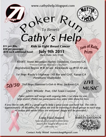 Don T Forget About Cathy S Help Poker Run And Bike Show Welcome To